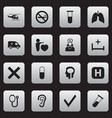 set of 16 editable hospital icons includes vector image
