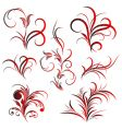 set of flower pattern tattoo vector image