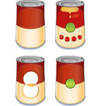 Template tin can tomato soup vector image