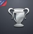 Trophy icon symbol 3D style Trendy modern design vector image