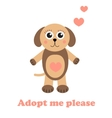 Adopt a dog Dog adoption concept Happy dog in vector image