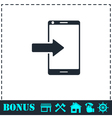 Incoming calls icon flat vector image