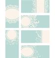 Blue decorative vintage cards vector image