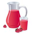 raspberry juice vector image