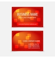 Abstract modern glossy red business cards vector image