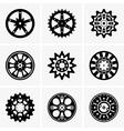 Sprocket wheel vector image