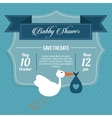 Baby Shower design stork icon graphic vector image