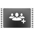 add new user account flat icon vector image