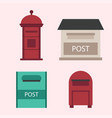 beautiful rural curbside open and closed postal vector image