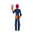 construction worker electrician in jumpsuit vector image