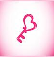 heart key icon vector image