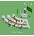 Isometric Educational Process Lecture Room vector image