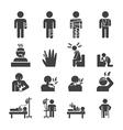 sick icon set vector image