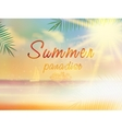 Summer background template with copyspace vector image