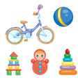 a set of children s toys vector image vector image