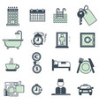 hotel amenities and services icons collection on vector image