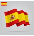 Flat and waving Spanish Flag vector image
