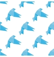 Seamless origami doves or pigeons pattern vector image vector image