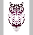 Owl tattoo vector image