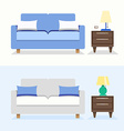 sofa interior design vector image