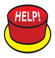 Help button vector image vector image