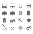 Computer Service and Maintain Icons vector image