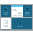 Creative business card template with 3d vector image