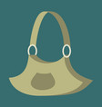 Icon in flat design fashion clothes handbag vector image