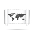 map of world on paper vector image