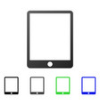 mobile tablet flat gradient icon vector image