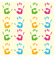 Print of hands pattern vector image
