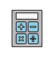 scribble calculator cartoon vector image