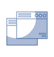 silhouette technology windows element and website vector image