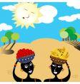african women vector image
