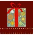 Christmas present box multicolor EPS 8 vector image