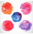 Set of watercolor blobs circle design elements vector image