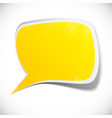 Yellow grunge speech label design vector image