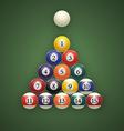 Billiard balls on table Eps 10 vector image