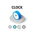 Clock icon in different style vector image vector image