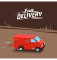 Delivery Concept Fast delivery van Fast delivery vector image