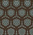 retro floral wallpaper vector image