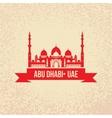 Sheikh Zayed Mosque Abu Dabhi UAE vector image