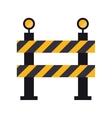 barrier restricted street stripe design vector image