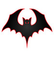 bat with wings spread logo vector image