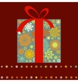 Christmas present box multicolor EPS 8 vector image