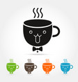 coffee cute cup logo vector image