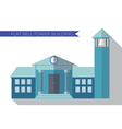 Flat design modern of building with bell tower vector image