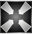 four arrows vector image