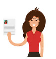 interview a businesswomen vector image