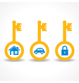 key for home car and lock stock vector image